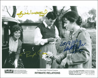 INTIMATE RELATIONS MOVIE CAST - AUTOGRAPHED SIGNED PHOTOGRAPH CO-SIGNED BY: JULIE WALTERS, RUPERT GRAVES, LAURA SADLER