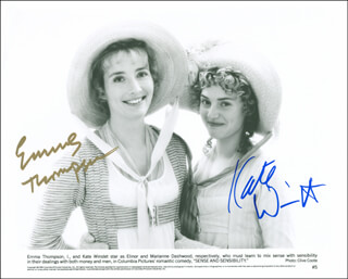 SENSE AND SENSIBILITY MOVIE CAST - AUTOGRAPHED SIGNED PHOTOGRAPH CO-SIGNED BY: EMMA THOMPSON, KATE WINSLET