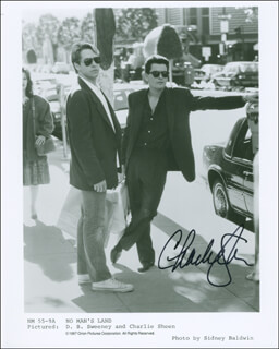 CHARLIE SHEEN - AUTOGRAPHED SIGNED PHOTOGRAPH