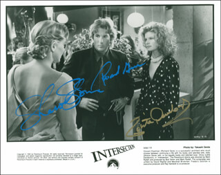INTERSECTION MOVIE CAST - AUTOGRAPHED SIGNED PHOTOGRAPH CO-SIGNED BY: SHARON STONE, RICHARD GERE, LOLITA DAVIDOVICH