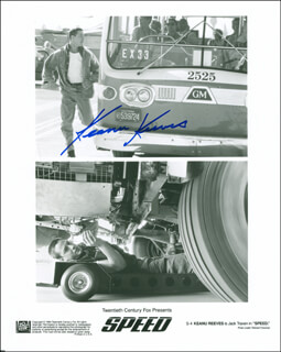 KEANU REEVES - AUTOGRAPHED SIGNED PHOTOGRAPH