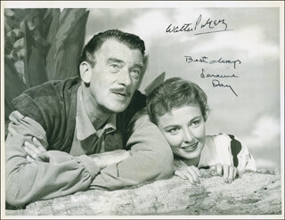 SWISS FAMILY ROBINSON MOVIE CAST - AUTOGRAPHED SIGNED PHOTOGRAPH CO-SIGNED BY: WALTER PIDGEON, LARAINE DAY