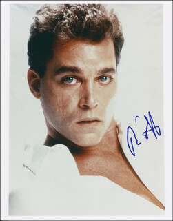 RAY LIOTTA - AUTOGRAPHED SIGNED PHOTOGRAPH