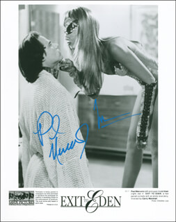 EXIT TO EDEN MOVIE CAST - AUTOGRAPHED SIGNED PHOTOGRAPH CO-SIGNED BY: PAUL MERCURIO, IMAN