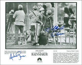 THE RAINMAKER MOVIE CAST - AUTOGRAPHED SIGNED PHOTOGRAPH CO-SIGNED BY: CLAIRE DANES, ANDREW SHUE - HFSID 299910