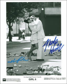 GIRL 6 MOVIE CAST - AUTOGRAPHED SIGNED PHOTOGRAPH CO-SIGNED BY: ISAIAH WASHINGTON, THERESA RANDLE