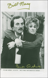 MAUDE TV CAST - AUTOGRAPHED SIGNED PHOTOGRAPH CO-SIGNED BY: BEATRICE BEA ARTHUR, BILL MACY