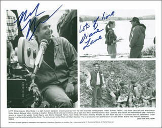INDIAN SUMMER MOVIE CAST - AUTOGRAPHED SIGNED PHOTOGRAPH CO-SIGNED BY: DIANE LANE, MIKE BINDER