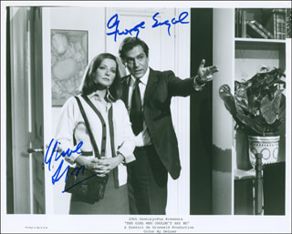 THE GIRL WHO COULDN'T SAY NO MOVIE CAST - PRINTED PHOTOGRAPH SIGNED IN INK CO-SIGNED BY: VIRNA LISI, GEORGE SEGAL
