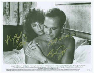 INCHON MOVIE CAST - AUTOGRAPHED SIGNED PHOTOGRAPH CO-SIGNED BY: BEN GAZZARA, JACQUELINE BISSET