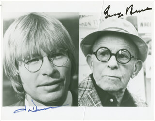 OH, GOD! MOVIE CAST - AUTOGRAPHED SIGNED PHOTOGRAPH CO-SIGNED BY: GEORGE BURNS, JOHN DENVER
