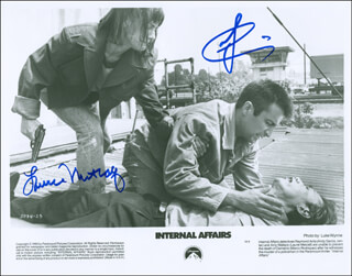 INTERNAL AFFAIRS MOVIE CAST - AUTOGRAPHED SIGNED PHOTOGRAPH CO-SIGNED BY: ANDY GARCIA, LAURIE METCALF