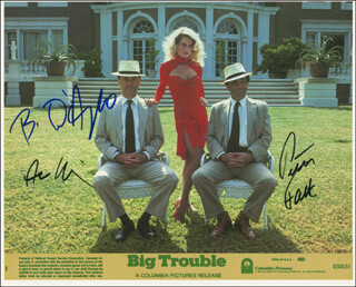 BIG TROUBLE MOVIE CAST - AUTOGRAPHED SIGNED PHOTOGRAPH CO-SIGNED BY: PETER FALK, BEVERLY D'ANGELO, ALAN ARKIN