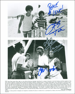 THE INKWELL MOVIE CAST - AUTOGRAPHED SIGNED PHOTOGRAPH CO-SIGNED BY: LARENZ TATE, SUZZANNE DOUGLAS, JOE MORTON