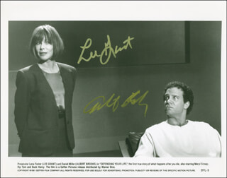 DEFENDING YOUR LIFE MOVIE CAST - AUTOGRAPHED SIGNED PHOTOGRAPH CO-SIGNED BY: LEE GRANT, ALBERT BROOKS
