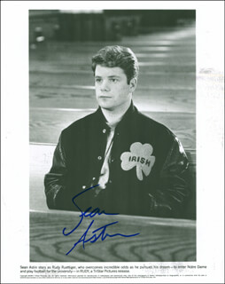 SEAN ASTIN - AUTOGRAPHED SIGNED PHOTOGRAPH