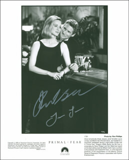 PRIMAL FEAR MOVIE CAST - AUTOGRAPHED SIGNED PHOTOGRAPH CO-SIGNED BY: RICHARD GERE, LAURA LINNEY