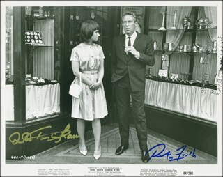 GIRL WITH GREEN EYES MOVIE CAST - AUTOGRAPHED SIGNED PHOTOGRAPH CO-SIGNED BY: PETER FINCH, RITA TUSHINGHAM