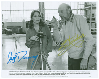 EYES OF LAURA MARS MOVIE CAST - AUTOGRAPHED SIGNED PHOTOGRAPH CO-SIGNED BY: FAYE DUNAWAY, IRVIN KERSHNER