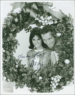 ANDY WILLIAMS - AUTOGRAPHED SIGNED PHOTOGRAPH CO-SIGNED BY: CLAUDINE LONGET