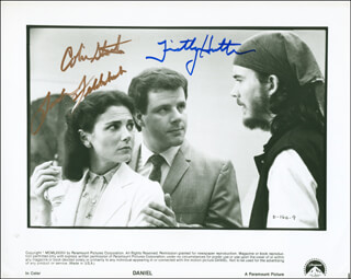 DANIEL MOVIE CAST - AUTOGRAPHED SIGNED PHOTOGRAPH CO-SIGNED BY: TIMOTHY HUTTON, TOVAH FELDSHUH, COLIN STINTON