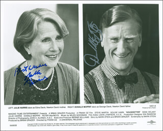 HOUSESITTER MOVIE CAST - AUTOGRAPHED SIGNED PHOTOGRAPH CO-SIGNED BY: DONALD MOFFAT, JULIE HARRIS
