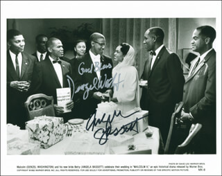 MALCOLM X MOVIE CAST - AUTOGRAPHED SIGNED PHOTOGRAPH CO-SIGNED BY: DENZEL WASHINGTON, ANGELA BASSETT