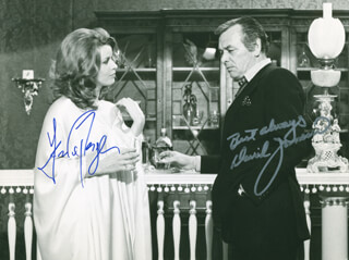THE SWISS CONSPIRACY MOVIE CAST - AUTOGRAPHED SIGNED PHOTOGRAPH CO-SIGNED BY: DAVID JANSSEN, SENTA BERGER