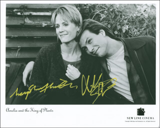 BED OF ROSES MOVIE CAST - AUTOGRAPHED SIGNED PHOTOGRAPH CO-SIGNED BY: CHRISTIAN SLATER, MARY STUART MASTERSON