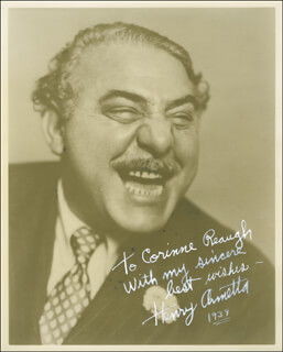 HENRY ARMETTA - AUTOGRAPHED INSCRIBED PHOTOGRAPH 1939