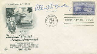VICE PRESIDENT ALBEN W. BARKLEY - FIRST DAY COVER SIGNED