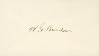 WILLIAM G. BROWNLOW - AUTOGRAPH