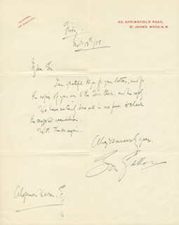 TOM GALLON - AUTOGRAPH LETTER SIGNED 11/13/1908