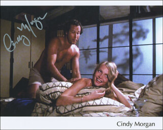 CINDY MORGAN - AUTOGRAPHED SIGNED PHOTOGRAPH