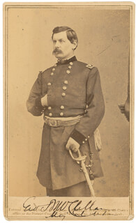 MAJOR GENERAL GEORGE B. MCCLELLAN - AUTOGRAPHED SIGNED PHOTOGRAPH