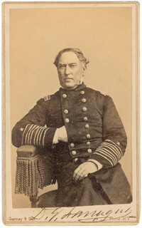 ADMIRAL DAVID G. FARRAGUT - AUTOGRAPHED SIGNED PHOTOGRAPH