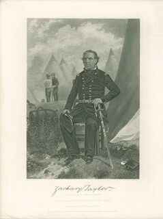 PRESIDENT ZACHARY TAYLOR - ENGRAVING UNSIGNED