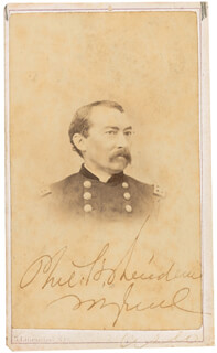 GENERAL PHILIP H. SHERIDAN - AUTOGRAPHED SIGNED PHOTOGRAPH