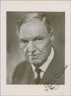 CLARENCE DARROW - AUTOGRAPHED INSCRIBED PHOTOGRAPH 05/1936