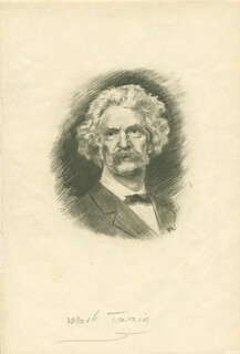 SAMUEL L. MARK TWAIN CLEMENS - ILLUSTRATION UNSIGNED
