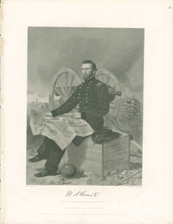PRESIDENT ULYSSES S. GRANT - ENGRAVING UNSIGNED