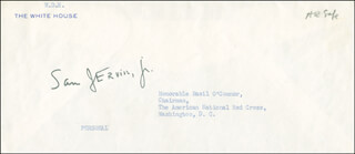 SAMUEL J. SAM ERVIN JR. - ENVELOPE SIGNED
