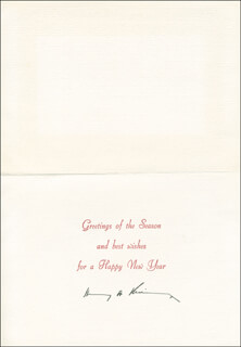Autographs: HENRY A. KISSINGER - CHRISTMAS / HOLIDAY CARD SIGNED CIRCA 1969