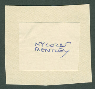 NICOLAS BENTLEY - AUTOGRAPH