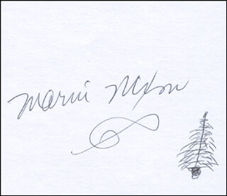 MARNI NIXON - ORIGINAL ART SIGNED