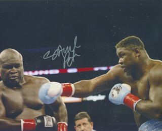SAMUEL THE NIGERIAN NIGHTMARE PETER - AUTOGRAPHED SIGNED PHOTOGRAPH