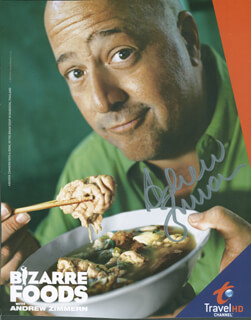 ANDREW ZIMMERN - PRINTED PHOTOGRAPH SIGNED IN INK