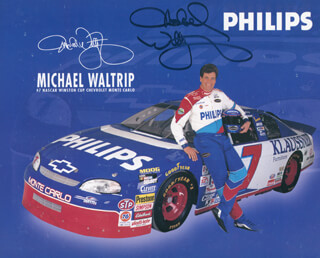 MICHAEL WALTRIP - AUTOGRAPHED SIGNED PHOTOGRAPH