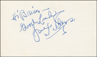 JANE WITHERS - AUTOGRAPH NOTE SIGNED