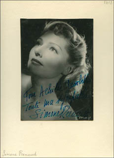 SIMONE RENANT - AUTOGRAPHED INSCRIBED PHOTOGRAPH